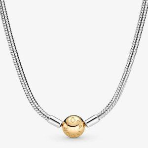 Pandora | NWOT Snake Chain Necklace Silver/Gold